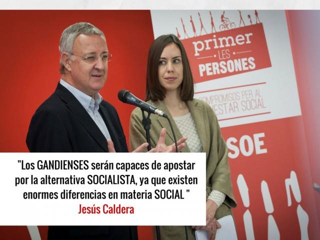 Jesús Caldera, padre de la Ley de Dependencia con Diana Morant en Gandia