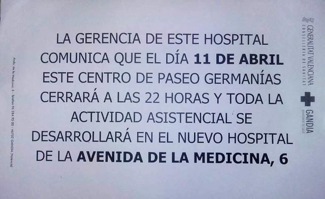 11 abril traslado hospital Gandia