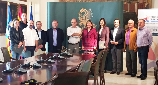 firma conveni turisme Diputació Diana Morant