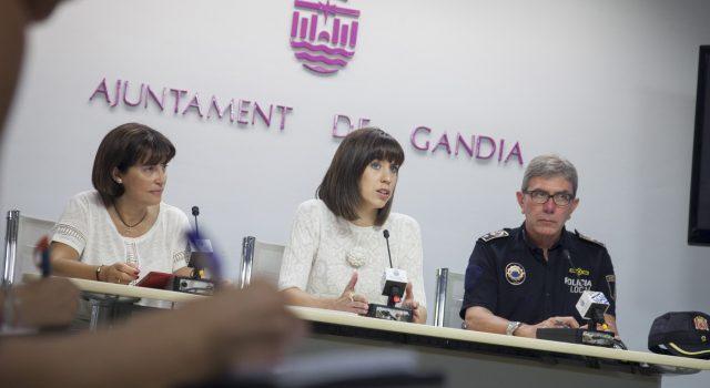 balanç de la campanya d'estiu de 2016 pel que fa a la seguretat i la convivència a Gandia | Diana Morant