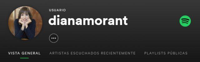 Perfil de Diana Morant en Spotify